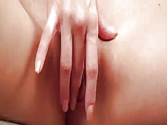 PinkRod Movie:Blonde with tiny tities having...