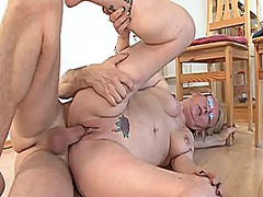 interracial, blowjob, bbw, granny,