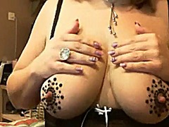 Thumb: Bejeweled titty wife h...