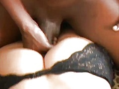 blonde, big cock, interracial, anal