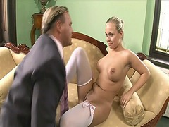 Blonde loving mature dick video