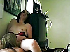 Hot lesbian pussy eating video