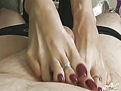 Nikki hand and foot job video