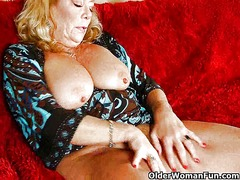Thumbmail - Office granny in panty...