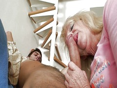 Xhamster Movie:Blonde mother in law rides his...