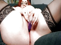 Thumb: Bbw secretary gets off