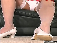See: Shaved pussy feet look...