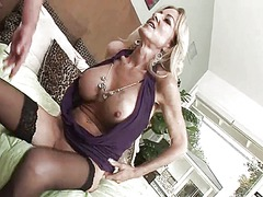Cougar in stockings wa...