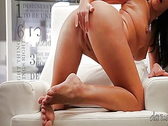 Stunningly hot babe pl... video