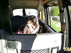 Fake taxi tina and stella part 1