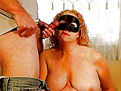 Mask milf chewing...