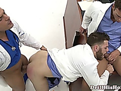 Hunk penetrating hooky with his partner