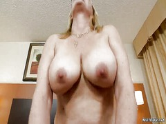 Milf pov horny gilf sucks my dick