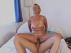 mature, cougar, granny, facial,