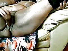 Nasty black bbw with e...