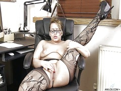 masturbation, british, stockings,