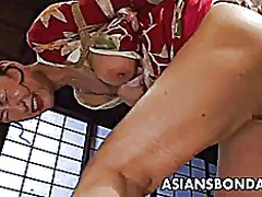Xhamster Movie:Bound japanese milf groans whi...