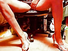 High heels upskirt pos... video