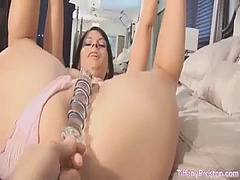 See: Fucked with a glass dildo