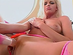 Busty glamour babe in ... video