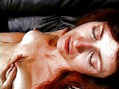 redhead, masturbation, close-up