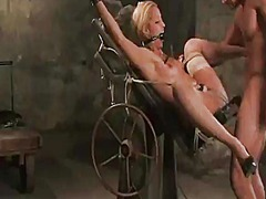 Yobt Movie:Moist blondie has hogtied and ...