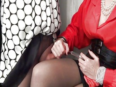 Xhamster Movie:Sissy being jerked off into a ...