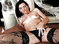 See: Sexy brunette in witch...