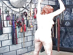 Redhead brunette milf gets whipped in...