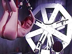 Xhamster Movie:Curvy redhead shackled by ling...