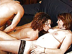 threesome, anal, mature, group,