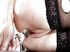Thumb: Beauty is pounding her...