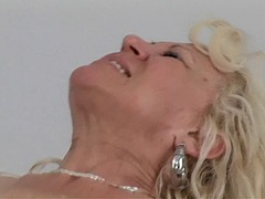 granny, facial, blonde, blowjob