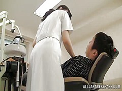 Sleaze and refined oriental dentist has shaged by a client