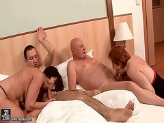 group, oral, sucking, slurping