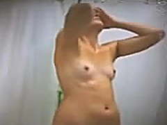 Small tits in shower video