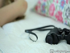 Thumbmail - Teen camila plays with...