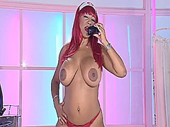 ebony, big, mature, british, redhead