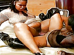 Two chunky ebonies wit... video