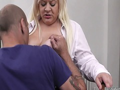 Busty blonde secretary... video