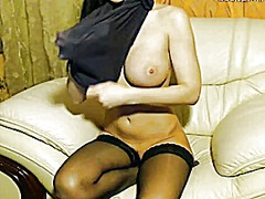 Webcam brunette big bo... video