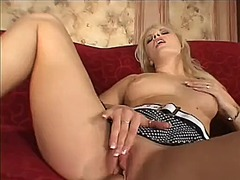 blonde, milf, masturbation, toy