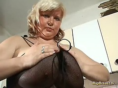 Blonde milf with extre... video