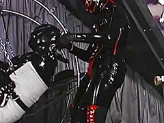Xhamster Movie:Slave in a rubber suit bound f...