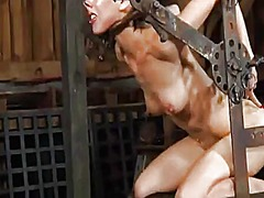 Thumb: Hung up girl is punished