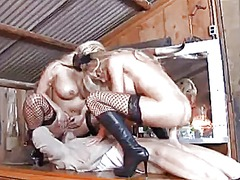 cowgirl, cum, grinding, oil, raven, big, ass, riding, 3some