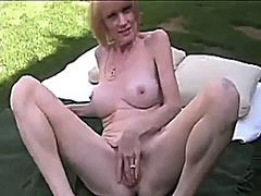 outdoors, blonde, milf, cuckold, outdoor