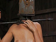 Tied up slave receives lus... - 05:15