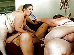 Lesbian action #15 three mature bbw, toying around