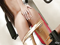 PinkRod Movie:With hairless bush polishing t...